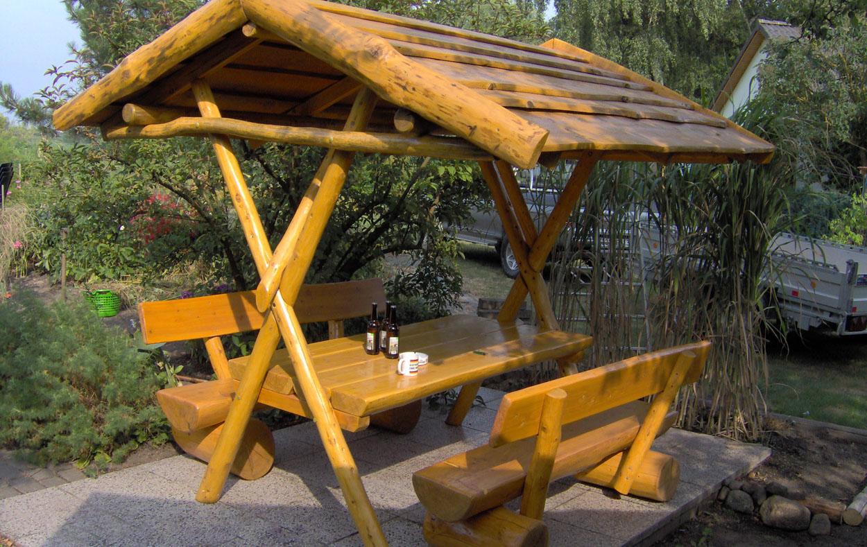 Garten Sitzgruppe Holz Uberdacht
