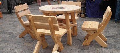 Gartenmöbel aus holzstämmen  Rustikale Gartenmöbel aus Holz für Ihren Garten | Naturstamm-moebel.de
