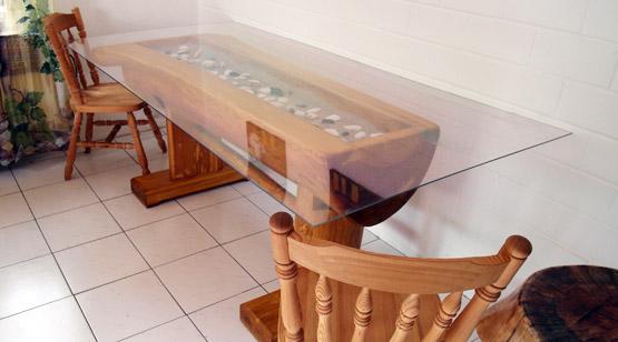 echte unikate aus rundstammholz. Black Bedroom Furniture Sets. Home Design Ideas