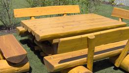 Gartenmobel Set Mit Gartentisch Und 4 Gartenbanken Aus Holz