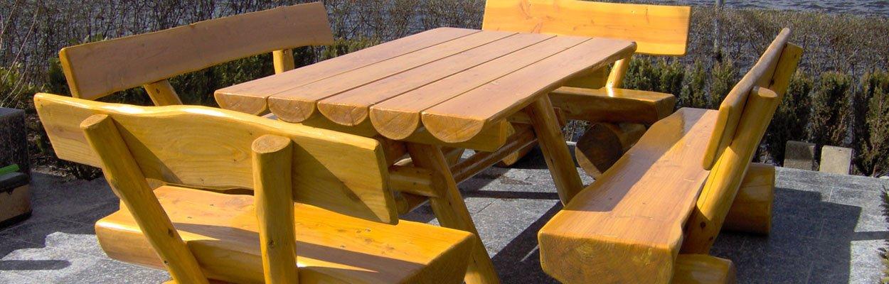 Rustikale Gartenmöbel aus Holz   Naturstamm-moebel.de